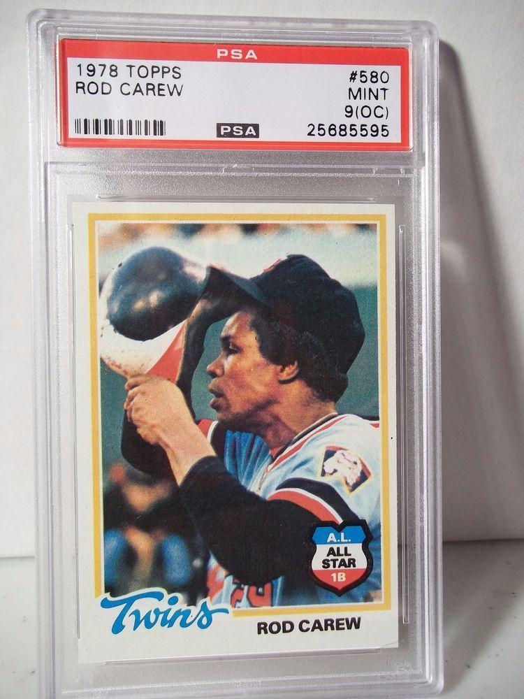 1978 Topps Rod Carew PSA Mint 9(OC) Baseball Card 580 MLB