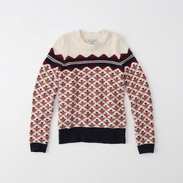 Abercrombie & Fitch Fair Isle Sweater ($34) ❤ liked on Polyvore ...