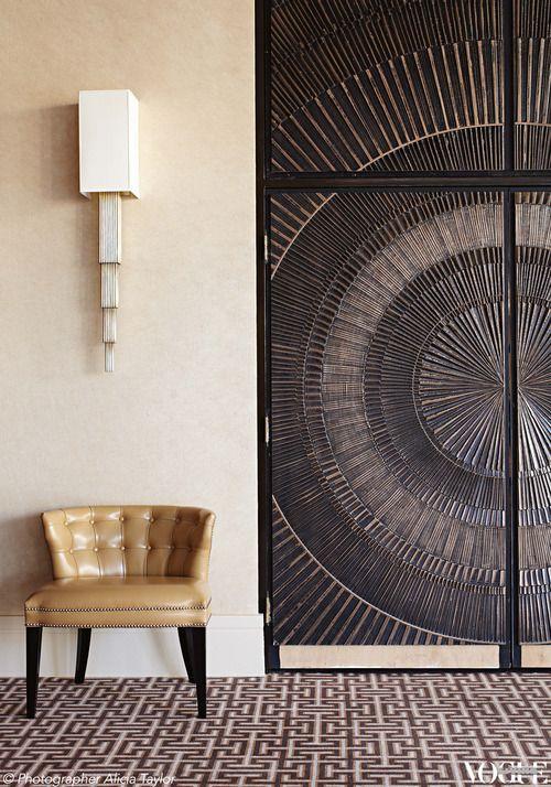 Formssurfaces Door In Bonded Bronze Interior Details Pinterest