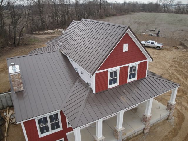 This is really, quite unprecedented in terms of being able to buy quality residential metal roofing panels and trim at your local home improvement store. Description from metalroofing.systems. I searched for this on bing.com/images