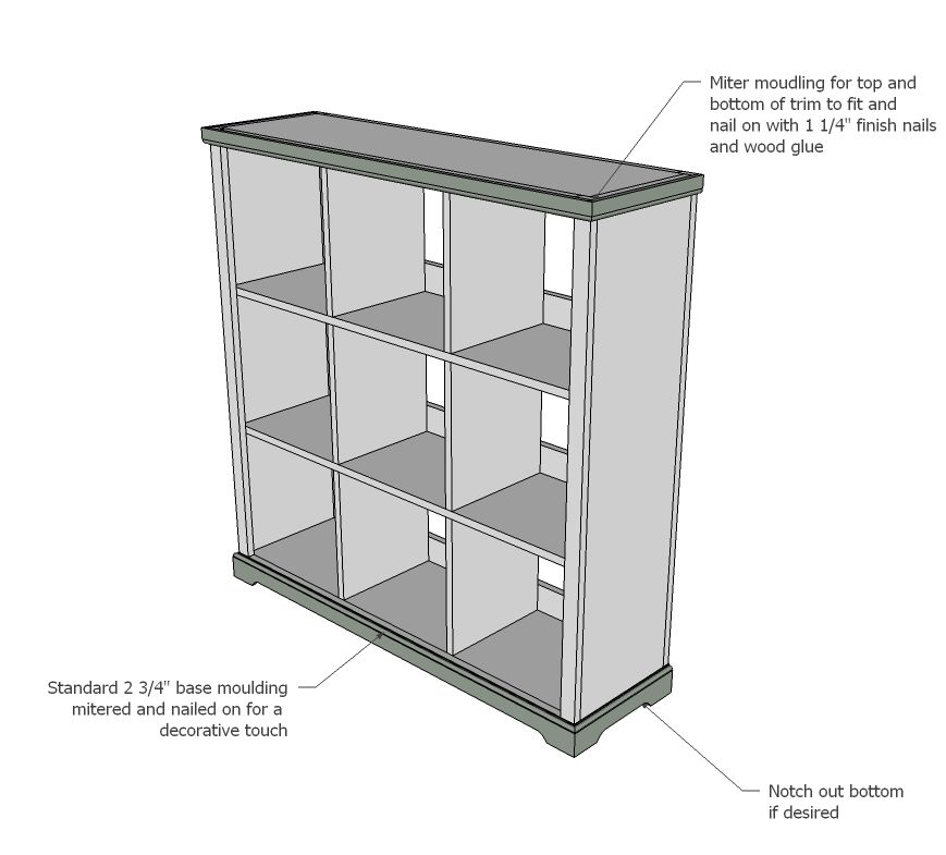 Bookcase storage cubby unit ana white easy diy projects for Storage unit plans