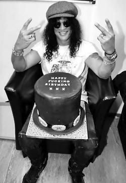 """Slash's Birthday Cake while on the """"Not In This Lifetime"""" tour with the reunited Guns N' Roses."""