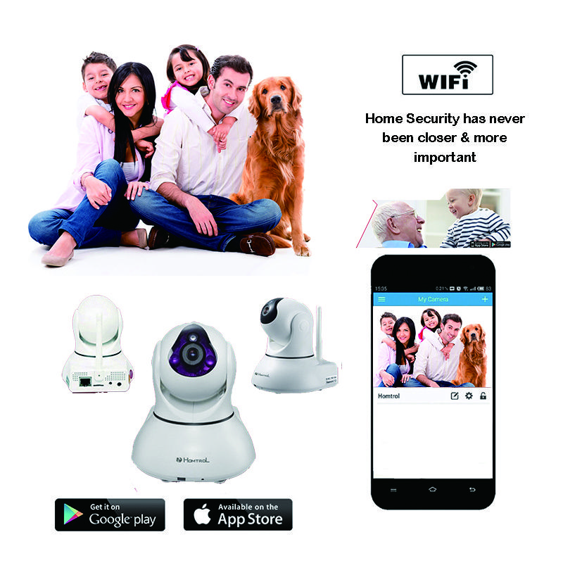 Smart Home and Commercial Wifi IP Camera with Motion Sensitivity