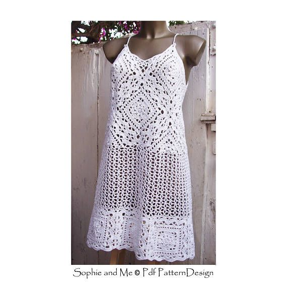 Florence/Firenze Granny Lace Dress or Top - Crochet Pattern ...