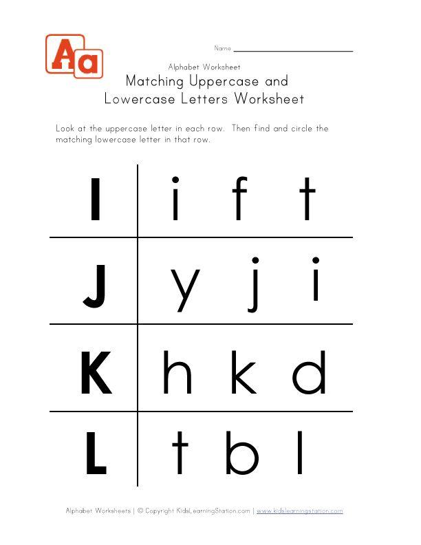 uppercase and lowercase letters worksheet i l children 39 s worksheets. Black Bedroom Furniture Sets. Home Design Ideas
