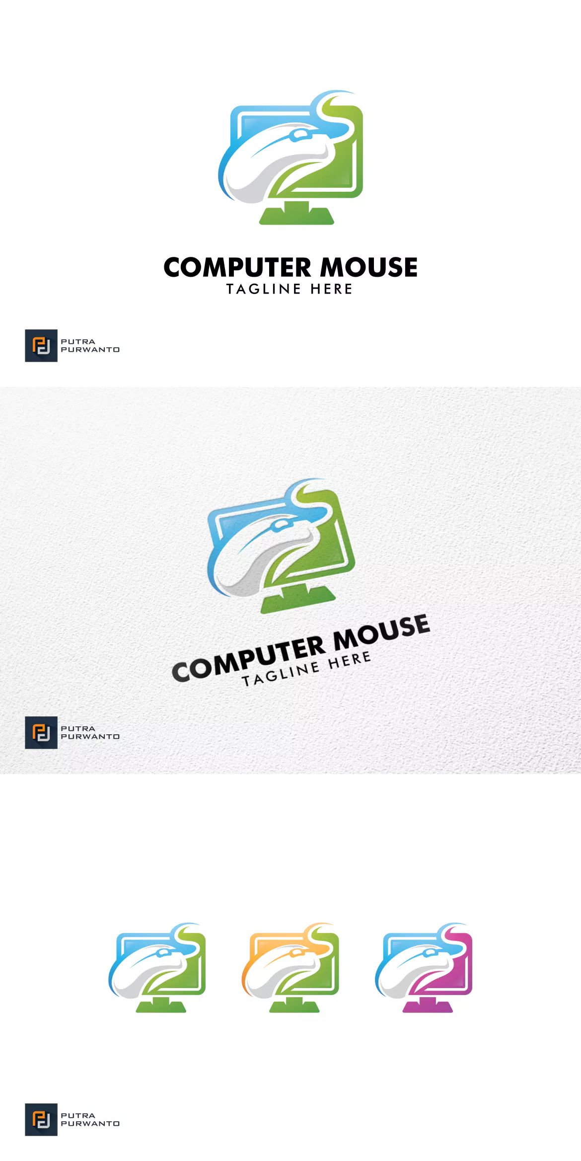 Computer Mouse Logo Template by putra_purwanto on