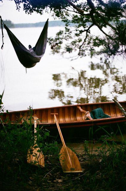 hammock canoe and lake  u003d perfect summer day  lazy sundays   canoeing lazy sunday and lazy  rh   pinterest