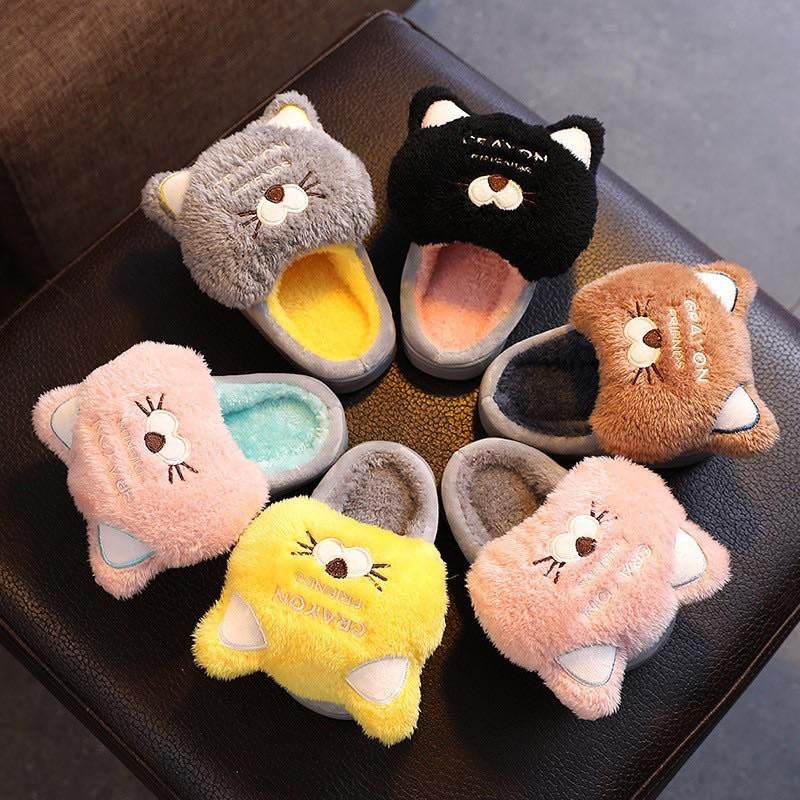 3d cat fluffy warm slippers in 2021 warm slippers cat
