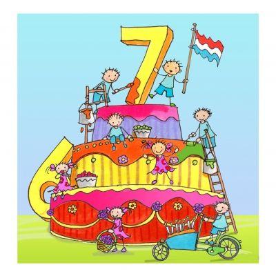 hoera 7 jaar Pin by Frances van Rijn on HARTELIJK GEFELICITEERD (NUMMERS  hoera 7 jaar