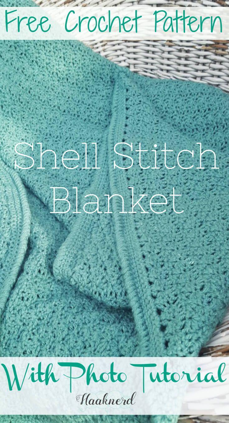Shell Stitch Blanket | Crochet manteles, Mantas para bebes y Para bebes