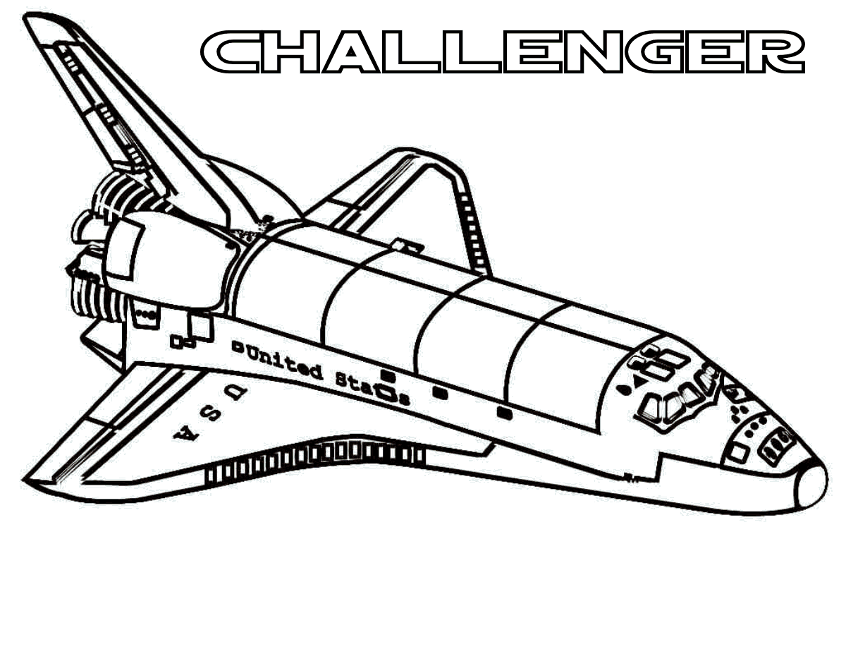 Space Shuttles With A Modern Shape | Space Shuttles Coloring Pages ...