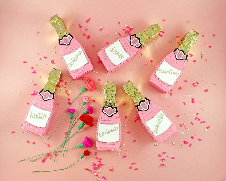 Pink Champagne Mini Pinata, Rosé, Bridesmaid Proposal ...