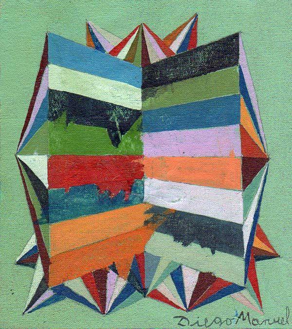 Astrapop 2, acrílico sobre tela, 16 x 14 cm. 2015 Painting by Diego Manuel