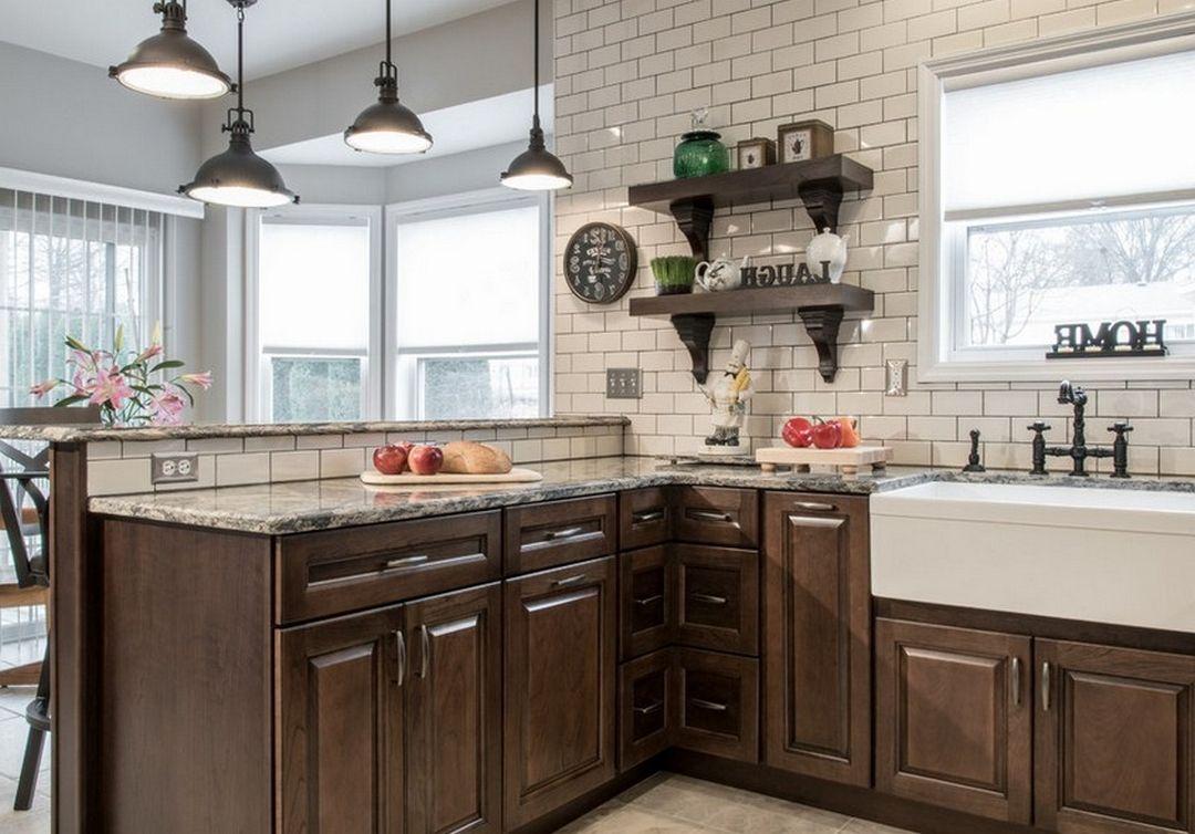Incredible Kitchen With Wooden Cabinets Jpg 1080 754 Kitchen Solutions Kitchen Inspiration Design Wood Kitchen