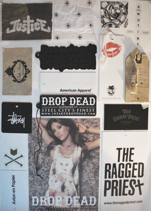 Above is a moodboard showing some of my favourite labels and ...