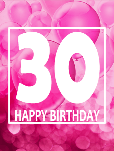 Pink Happy 30th Birthday Balloon Card Is Your Best Gal Pal Turning 30 Then This The To Send For A Fun Celebration