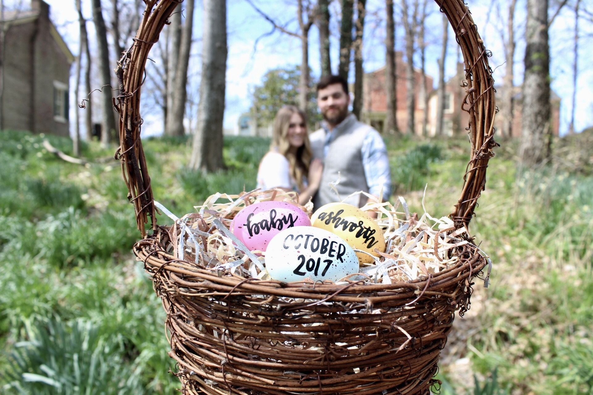Light Easter basket announcement