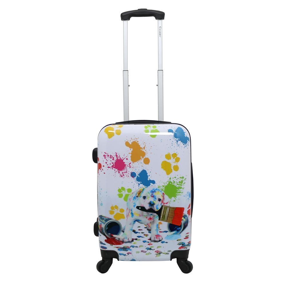 Chariot Paint Doggie 20-inch Hardside Lightweight Upright Spinner ...