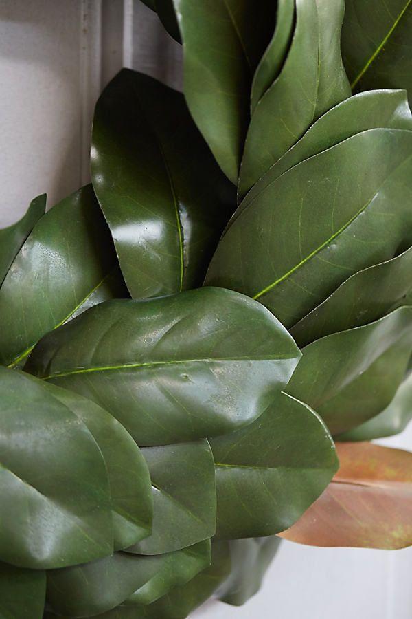 Photo of Faux magnolia wreath
