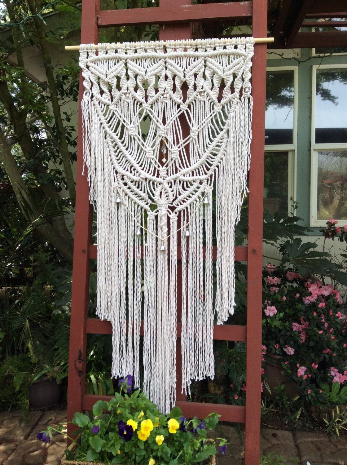 Pin by pat fenn on courtyards pinterest macrame large macrame