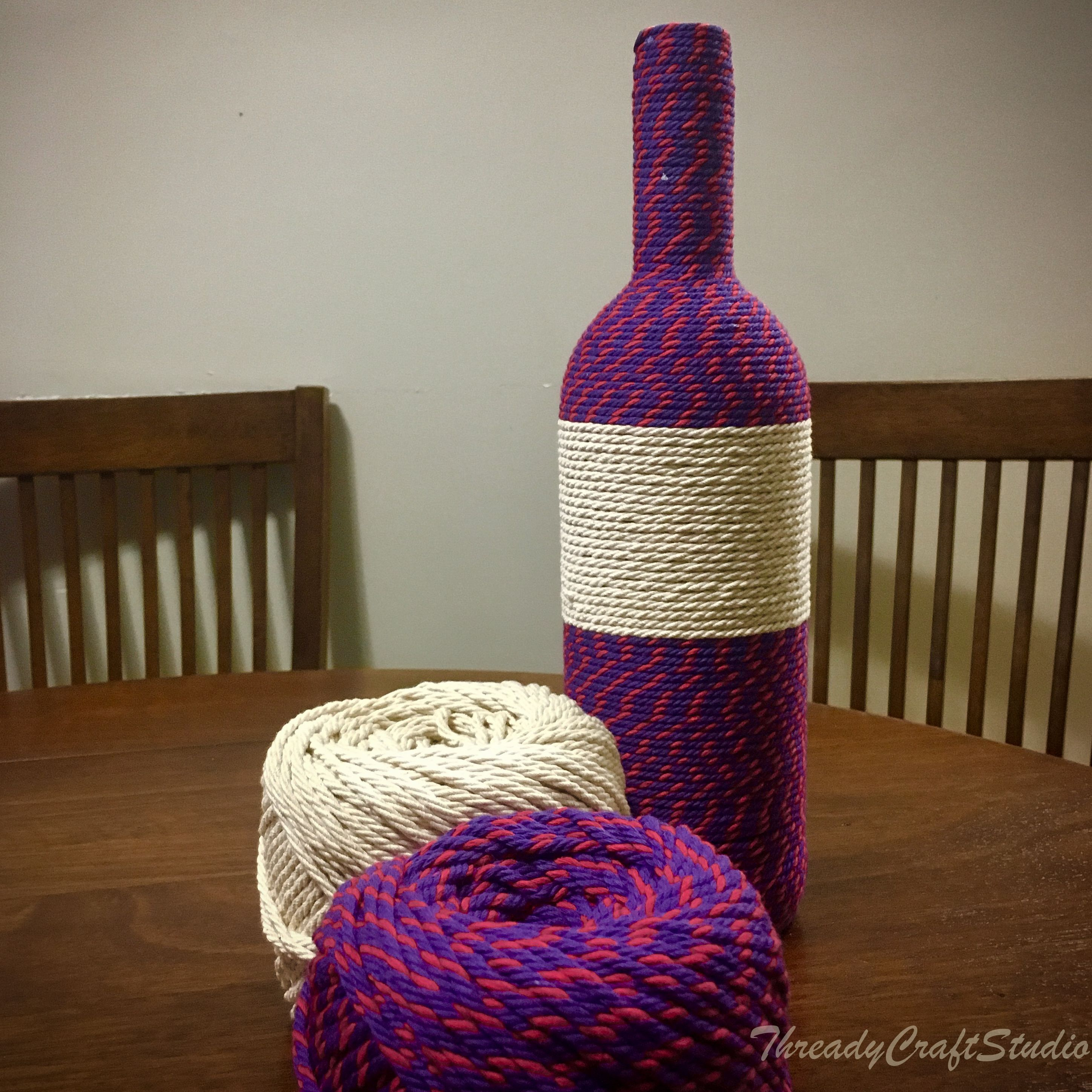Upcycled Wine bottle for Home Decor using this beautiful