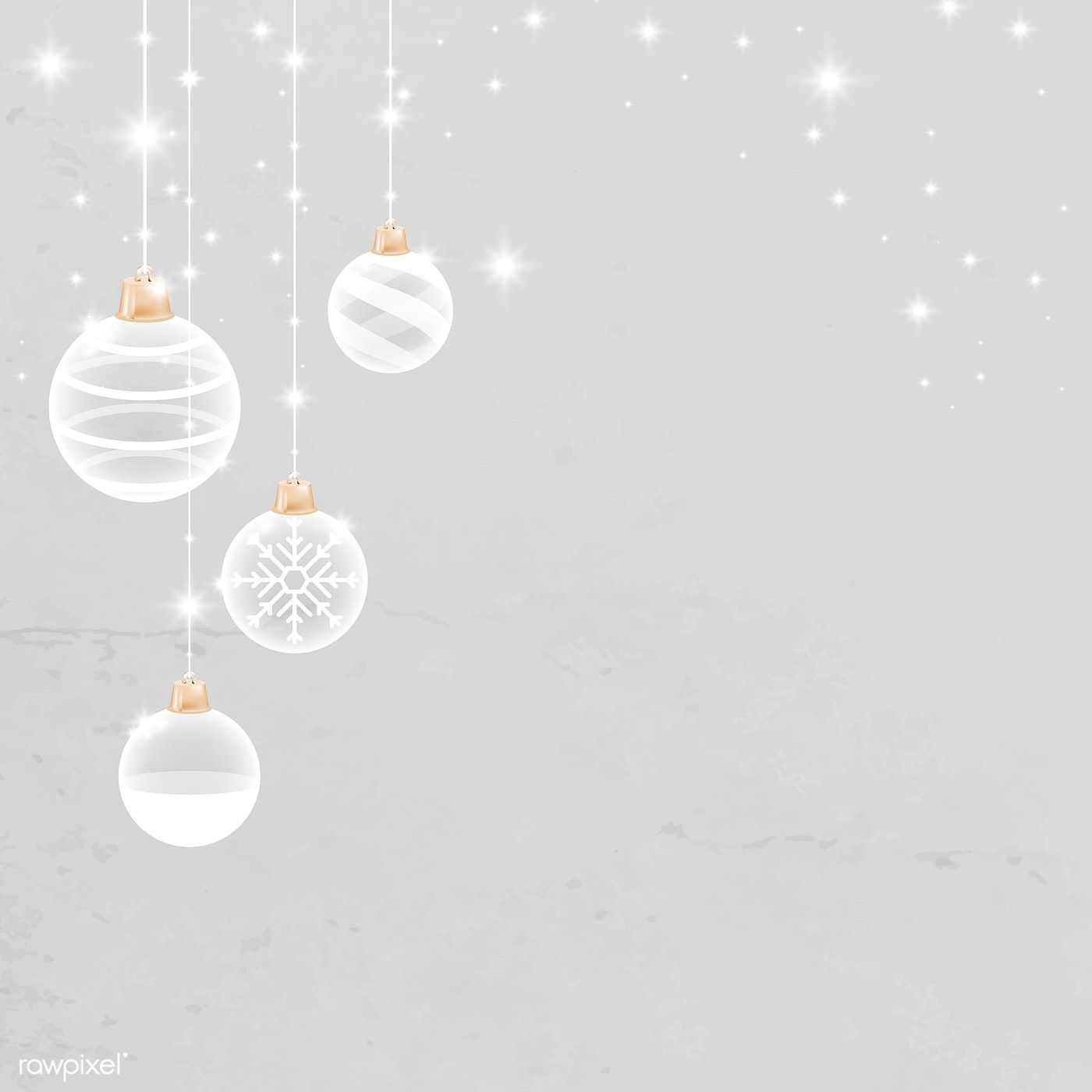 Download Premium Vector Of White Christmas Bauble Patterned On Gray Christmas Background Images Christmas Card Images Cute Christmas Backgrounds