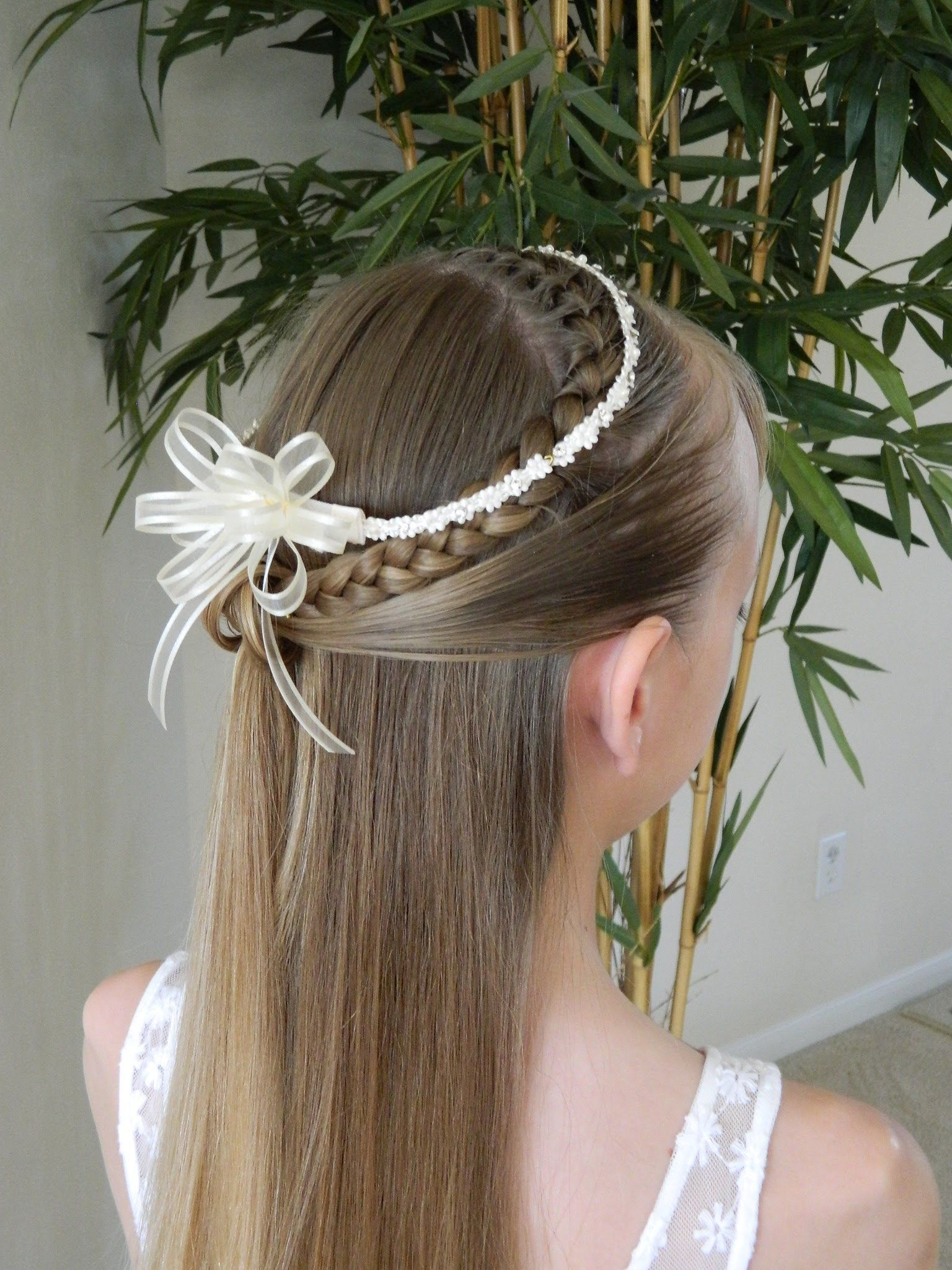 first communion hair styles | updos just tend to look a little