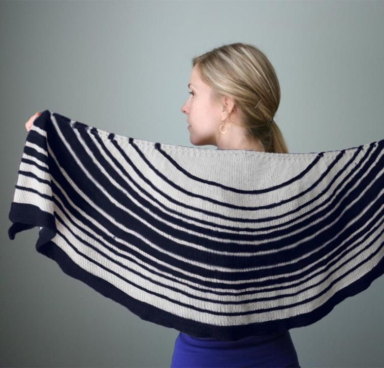 Lunaris Shawl Knitting Kit by Hilary Smith Callis featuring Cloudborn Highland Fingering Yarn   Craftsy