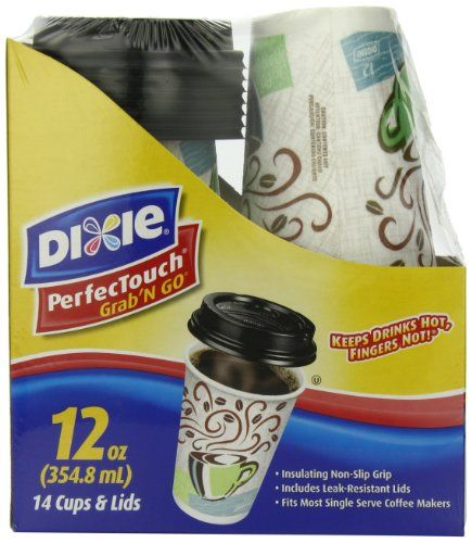 Dixie Perfectouch Grab N Go Hot Cup 12 Ounce 14 Count Dixie Http Www Amazon Com Dp B00ax2ei12 Ref Cm Single Serve Coffee Makers To Go Coffee Cups Hot Drink