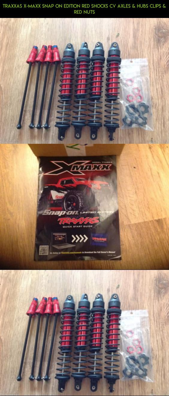 Traxxas XMaxx Snap ON Edition Red Shocks CV Axles & Hubs