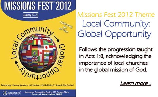 Missions Fest  Local Community: Global Opportunity