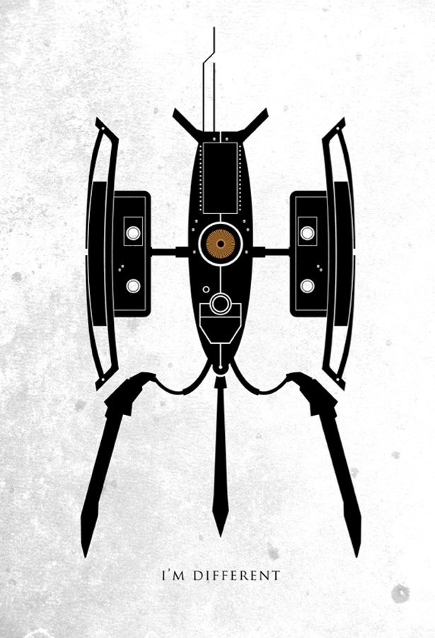 Portal, I\'m different. Video Game Movie Posters - Design - ShortList ...