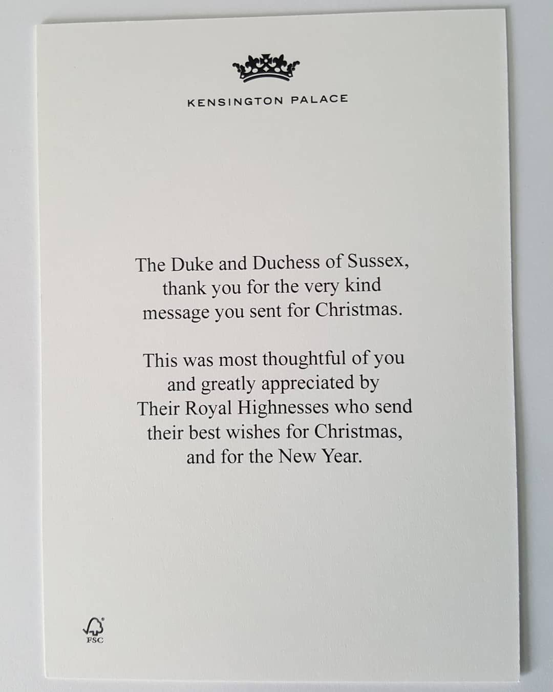 See The Thank You Cards That Meghan Markle And Prince Harry Sent