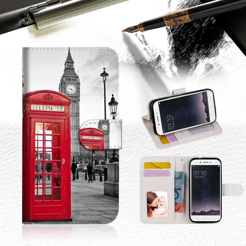quality design 5f9fa d8269 9.99AUD - British Phone Booth Wallet Tpu Case Cover For Oppo R9S ...