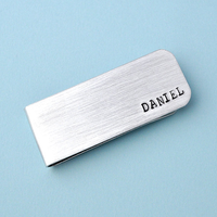 Money Clip Personalized metal Money Clip, custom Money Clip, aluminum Money Clip hand stamped Money clip, father's day gifts