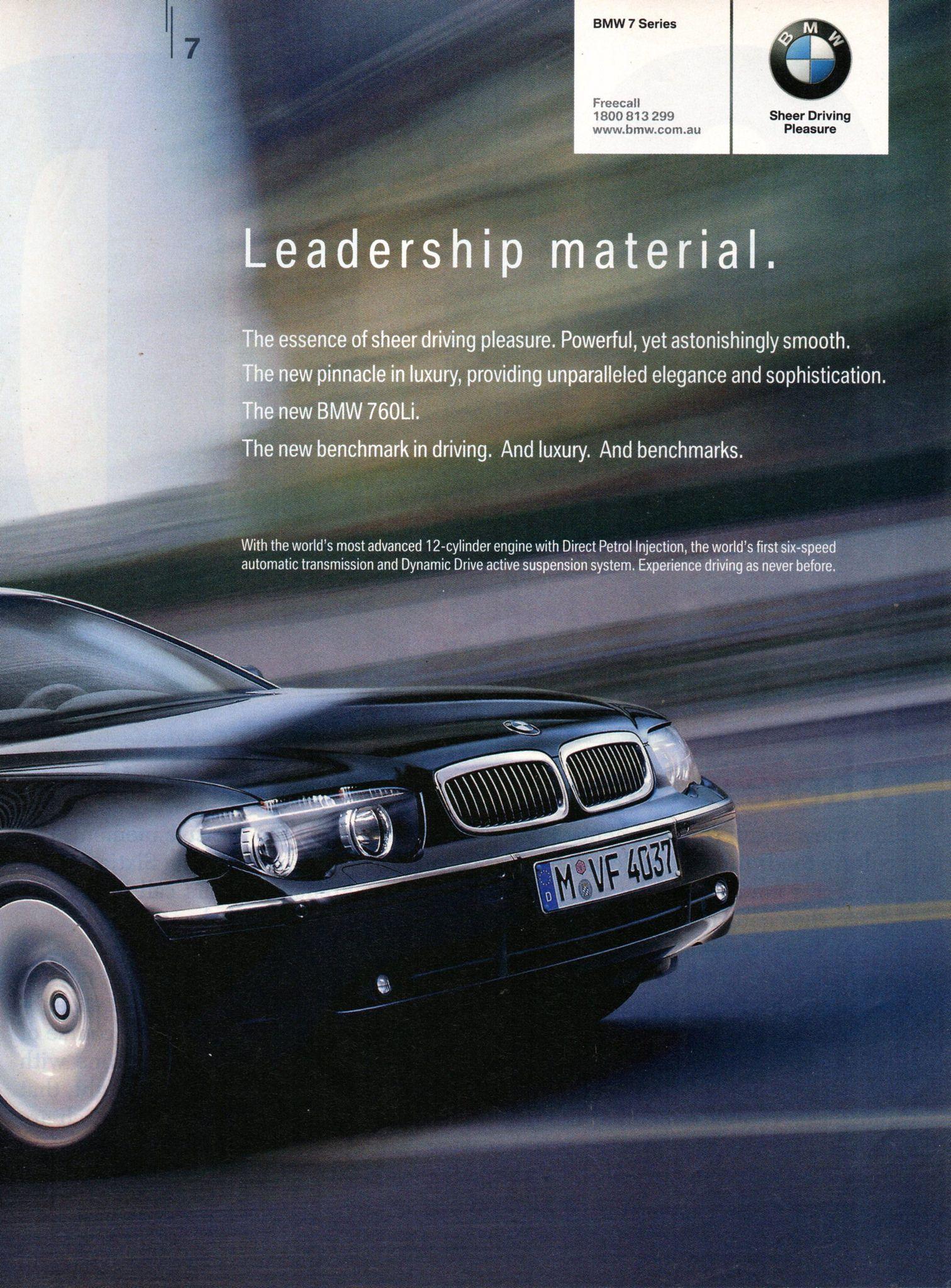 2003 Bmw 760li 12 Cylinder Sedan Page 2 Aussie Original Magazine Advertisement Bmw Car Advertising New Bmw