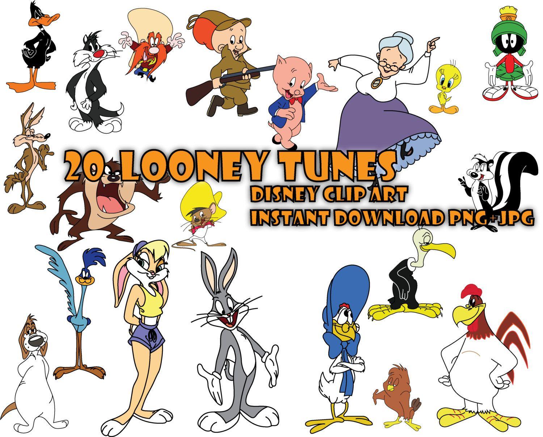 20 Looney Tunes Disney, Printable Digital Clipart, Instant ...