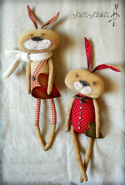 Scented dolls handmade. Fair Masters - handmade Brothers-rabbits. Handmade.