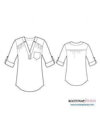 Custom-Fit Sewing Patterns - Tunic With Yoke | Modas | Pinterest ...