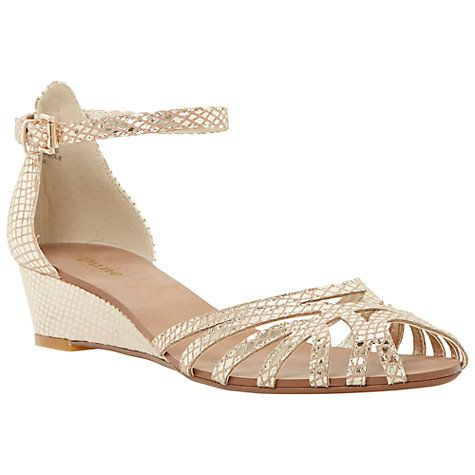 5cc76c52e40 Buy Dune Knightly Leather Cut Away Wedge Heeled Sandals Online at  johnlewis.com