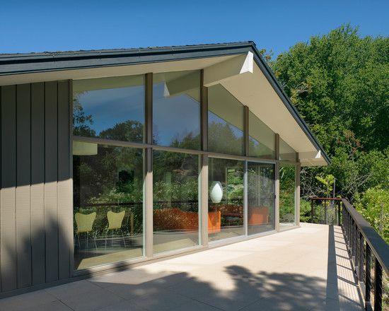 Miid Century Modern Gray Exterior Design Pictures Remodel Decor