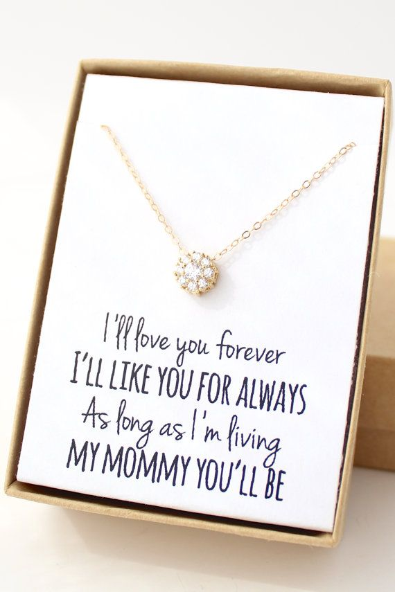Gold Solitaire Necklace Cubic Zirconia Cz Diamond Tiny Flower Dainty Delicate Mother Of The Bride Gift Jewelry S2 Christmas