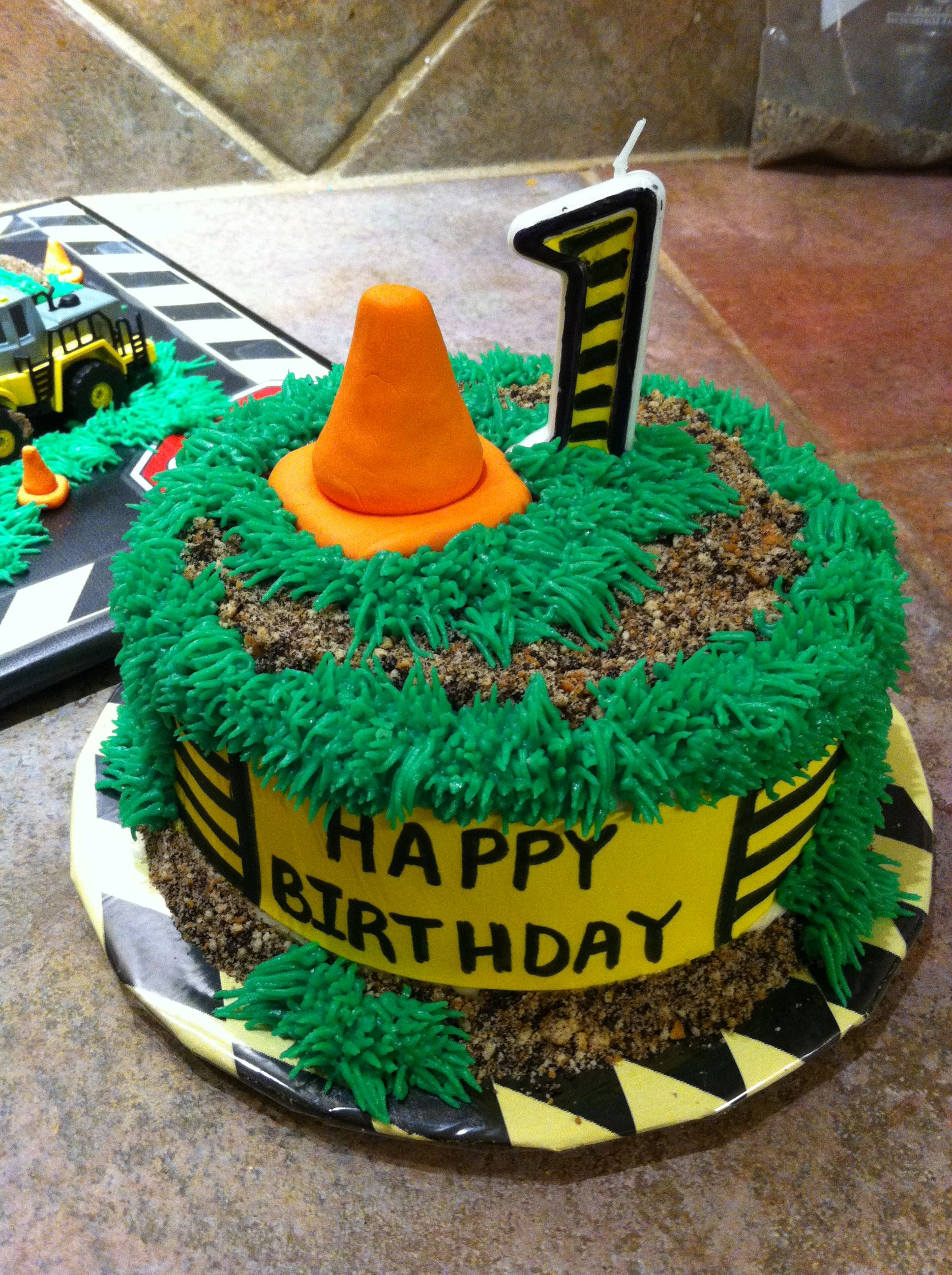 Construction 1st Birthday Smash Cake Character Cakes