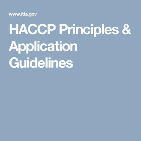 HACCP Principles & Application Guidelines | HACCP | Food