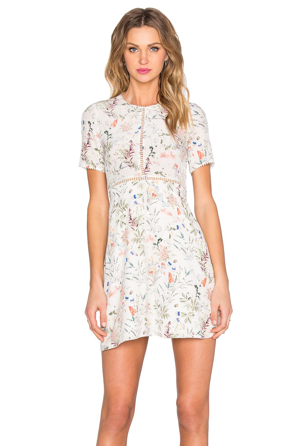 The Kooples Floral Dress in White | Stylin\' by Kate Altmann ...