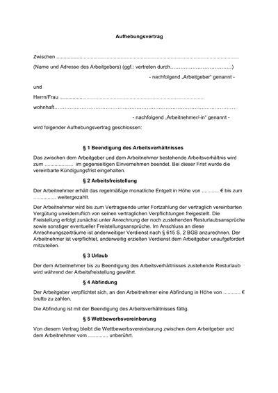 Arbeitsvertrag: kostenlose Muster Vorlagen für Arbeitsverträge aller ...
