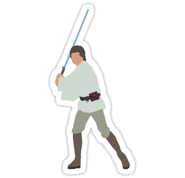 Luke Skywalker Stickers By Deelara Redbubble Star Wars Stickers Cute Stickers Cool Stickers
