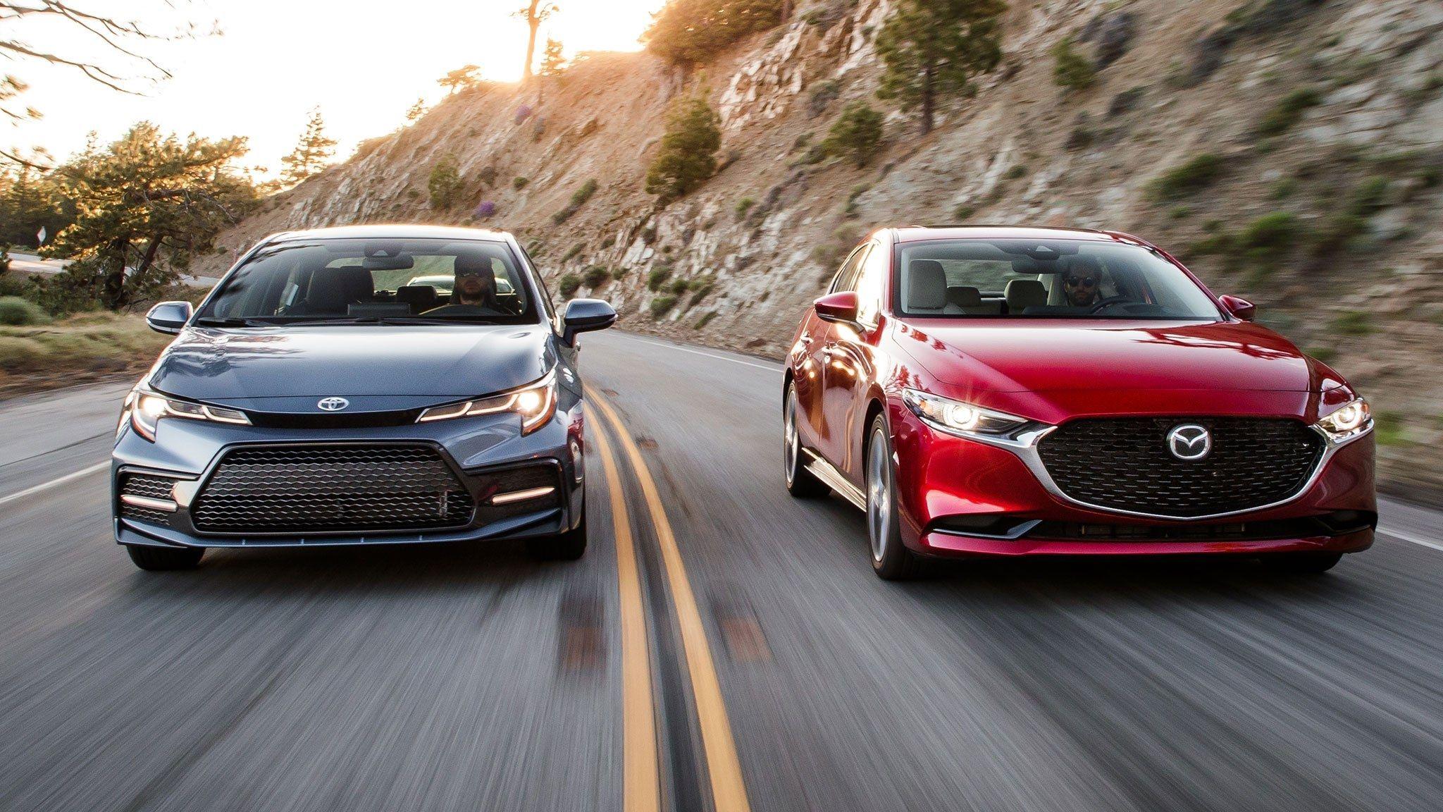 2020 Toyota Corolla Vs 2019 Mazda3 Compact Stalwarts Collide