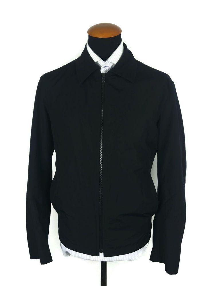 Men s Hugo Boss Jacket size 42R L Large Harrington Bi ...