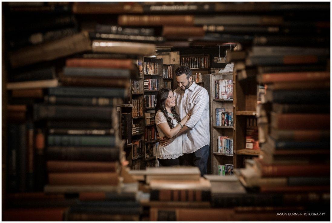 Roxana Sam The Last Bookstore Engagement Session The Last Bookstore Los Angeles Engagement Photos Engagement Session